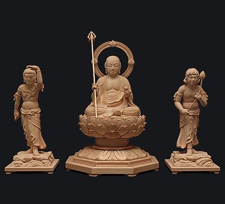地蔵三尊 (寺院納品)